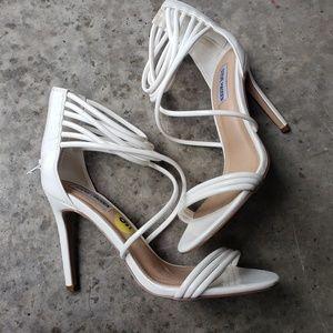 ALDO white strappy heels size 9